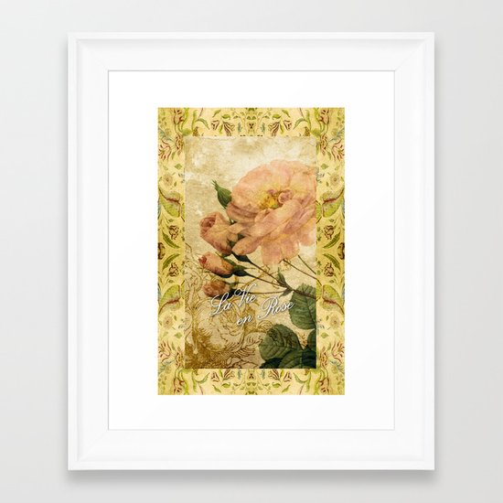 La Vie en Rose Framed Art Print