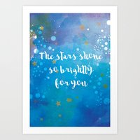 The Stars Shone So Brigh… Art Print