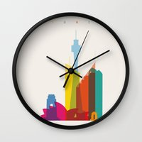 Shapes of Sydney. Accurate to scale Wall Clock