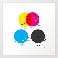 YM Love CK Hate Art Print