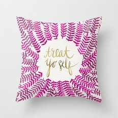 Treat Yo Self – Pink &… Throw Pillow