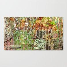 Crimson Petal's Lying Decay Canvas Print