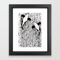 Whales That Swim Together Framed Art Print