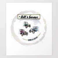 Bill's Garage Art Print