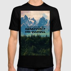 Escaping from woodland heights SMALL Mens Fitted Tee Black