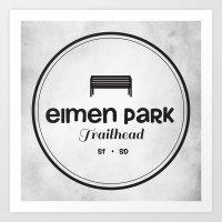 Elmen Park Trailhead Art Print