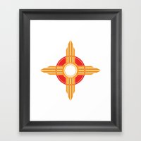 New Mexico Zia - Gold Framed Art Print