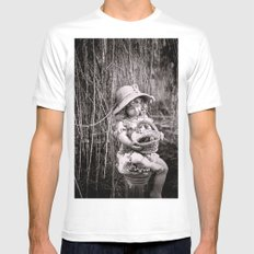 Under the Willow Tree II Mens Fitted Tee White SMALL