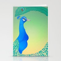 Peacock;Light Stationery Cards