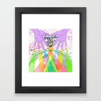 Spread Your Light to the Planet Framed Art Print