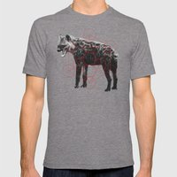 Sacred Hyena Mens Fitted Tee Tri-Grey SMALL