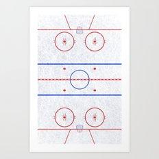Hockey Rink Art Print