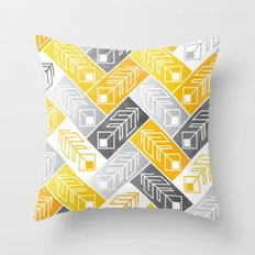 Bright Geometric Print Throw Pillow
