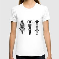 Warriors Womens Fitted Tee White SMALL