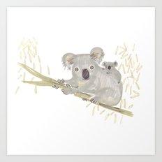 Koala & baby Art Print