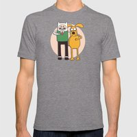 A Grand Adventure Mens Fitted Tee Tri-Grey SMALL