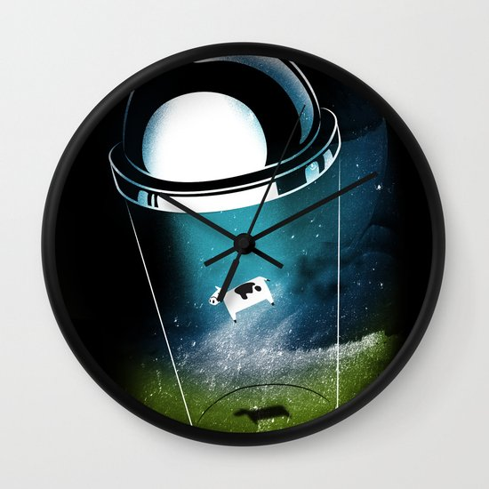 Encounters of the Dairy Kind Wall Clock