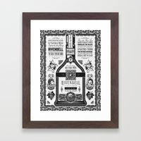 Lord of the Rings Rivendell Vineyards Vintage Ad Framed Art Print