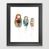 Russian Dolls Framed Art Print