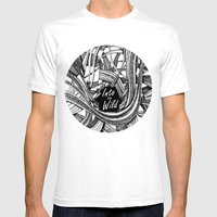 Into The Wild (b&w Versi… Mens Fitted Tee White SMALL