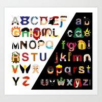 Marvelphabet Art Print