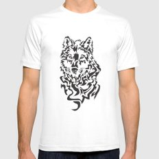 Wolf SMALL White Mens Fitted Tee
