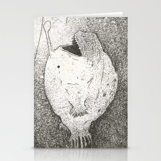 Mating Rituals: The Angler Fish Stationery Card