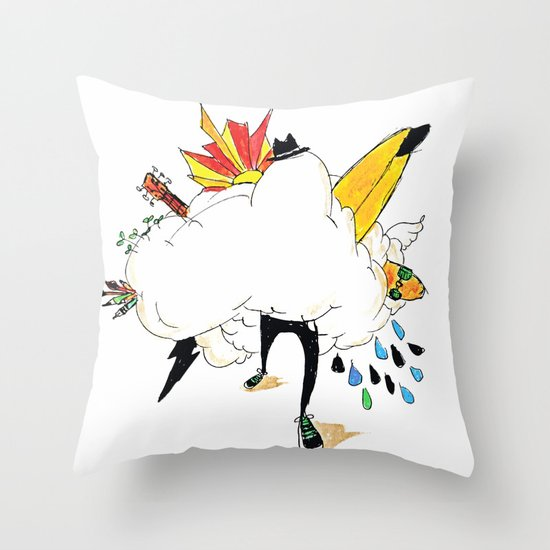 ED IN THE CLOUDS Throw Pillow
