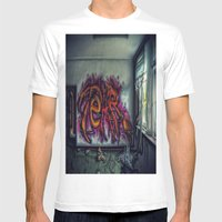 Graffiti Mens Fitted Tee White SMALL