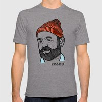 Zissou Mens Fitted Tee Tri-Grey SMALL