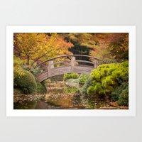 Fall in the Japanese Garden Art Print