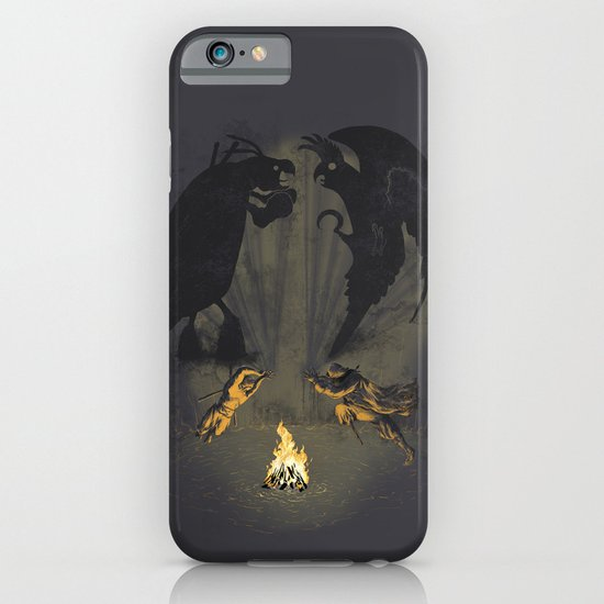 Let's settle it - in the shadows.  iPhone & iPod Case