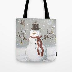 Christmas Snowman  Tote Bag