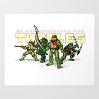 Philippine Revolutionary Ninja Turtles Art Print
