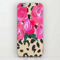 Roses and Leopard Print iPhone & iPod Skin