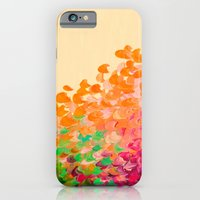 iPhone Cases featuring CREATION IN COLOR Autumn Infusion - Colorful Abstract Acrylic Painting Fall Splash Ombre Ocean Waves by EbiEmporium