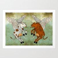 Las Vacas Voladoras - El… Art Print
