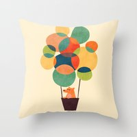 Whimsical Hot Air Balloo… Throw Pillow