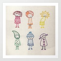 Rainbow Girls Art Print