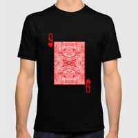 Queen of Hearts Mens Fitted Tee Black SMALL