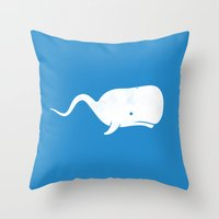 Sperm whale Throw Pillow