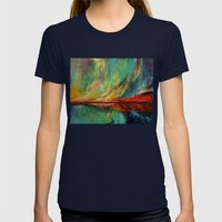 Aurora Womens Fitted Tee Navy SMALL