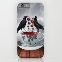 iPhone & iPod Case featuring TEA AND A LIL' LOVE by Happi Anarky