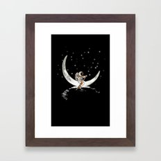Sailing Cross the Sky Framed Art Print