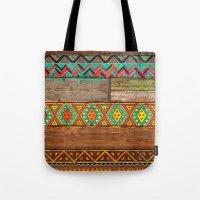 Indian Wood Tote Bag