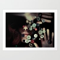 TRAPPED BUTTONS Art Print