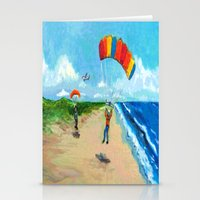 Skydive Beach Landing Stationery Cards