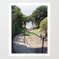 More Mesa Beach Steps Art Print