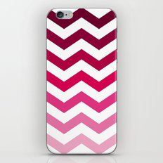 Pink Ombre Chevron iPhone & iPod Skin