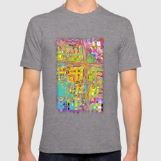 Abstract 0025 Mens Fitted Tee Tri-Grey SMALL